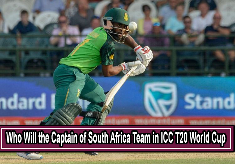 Captain of South Africa Team in ICC Men's T20 World Cup