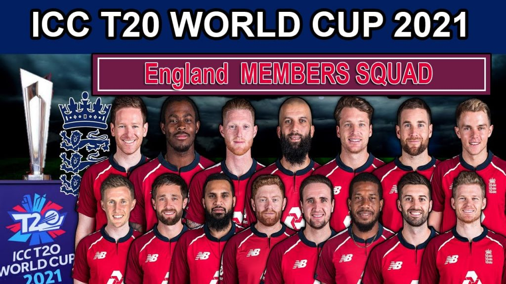 England Team Squad for ICC T20 World Cup