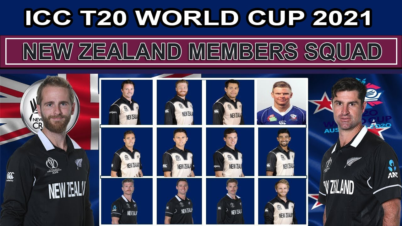New Zealand Team Squad for ICC T20 World Cup