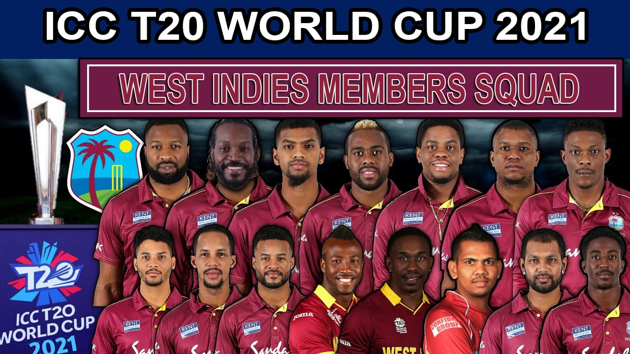 West Indies Team Squad for ICC T20 World Cup